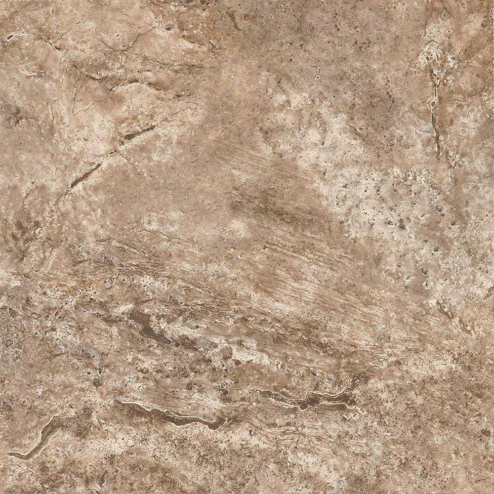 ARMSTRONG PEEL N' STICK TILE 12 IN. X 12 IN. FAWN TRAVERTINE SILVER 1.14MM (0.045 IN.) / 45 SQ. FT. PER CASE per 2 Case