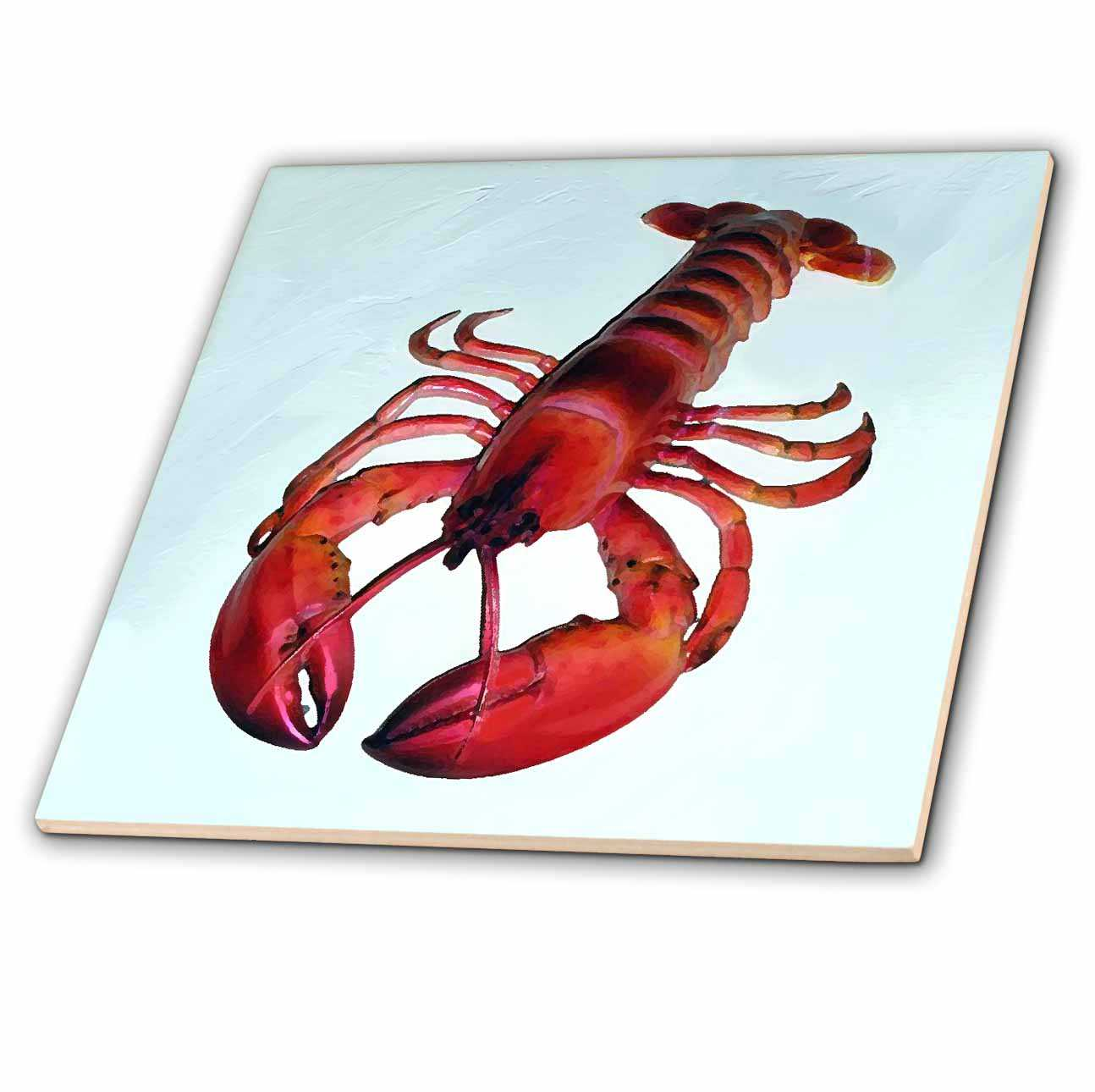 3dRose Lobster - Ceramic Tile, 12-inch