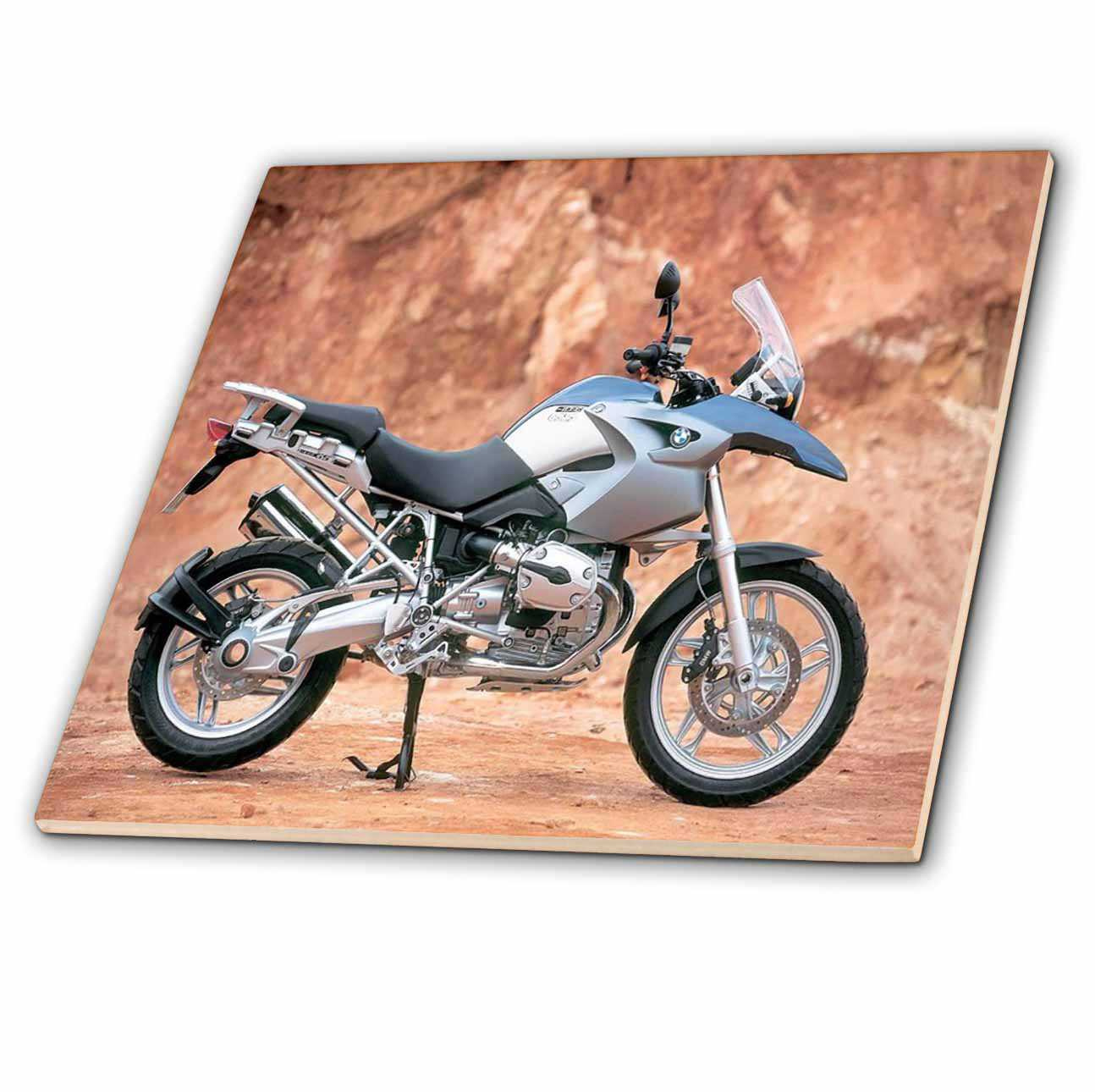 3dRose Motorcycle Standing - Ceramic Tile, 6-inch