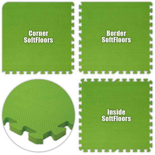 Alessco SFLG2850 SoftFloors -Lime Green -28 x 50 Set
