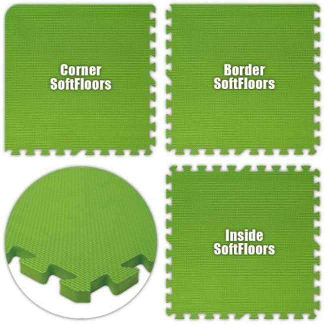 Alessco SFLG2244 SoftFloors -Lime Green -22 x 44 Set